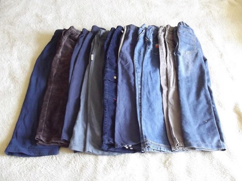 zestaw spodni dla chłopca 6-7 lat 9 sztuk