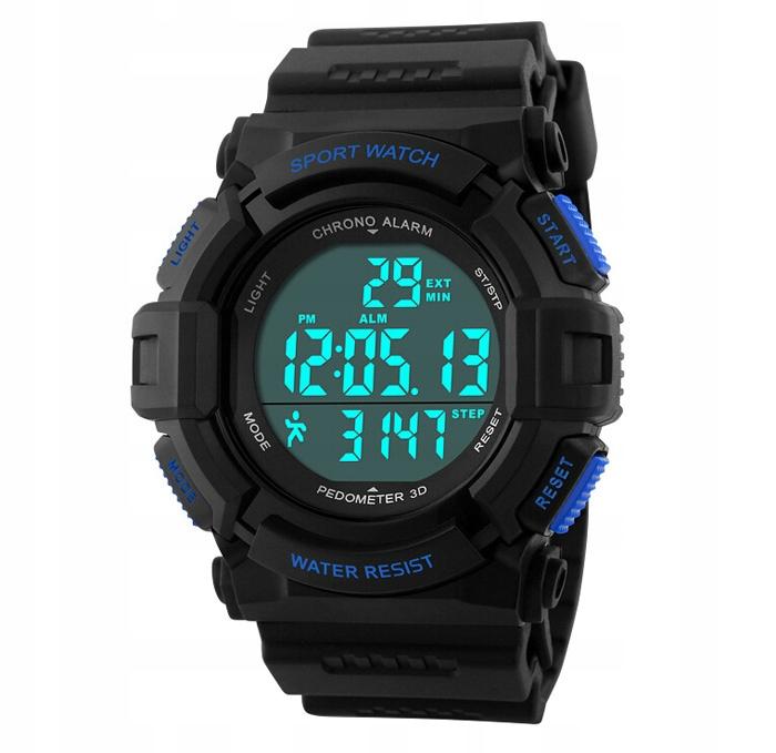 Zegarek męski - SKMEI - elektroniczny - krokomierz
