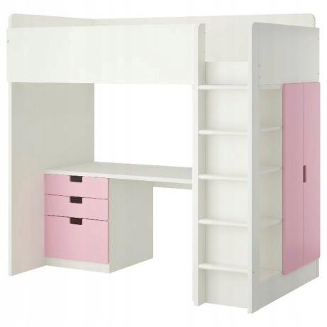 łóżko Piętrowe Z Biurkiem I Szafą Ikea Stuva 7501546458