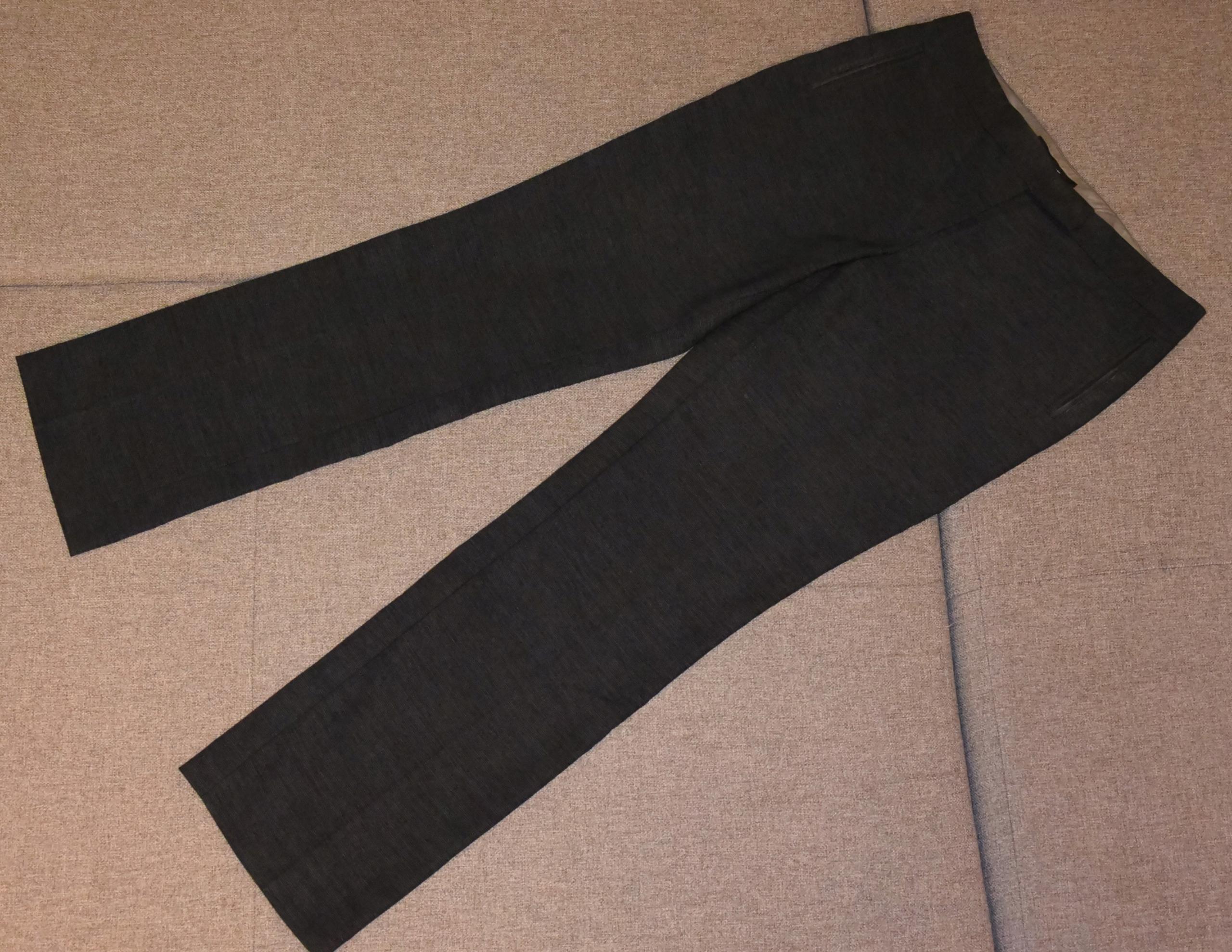 Spodnie eleganckie w ciemnoniebieskie firmy NEXT