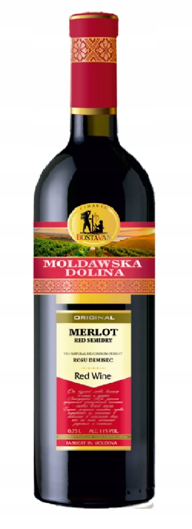 Moldawska Dolina Merlot Semi Dry !