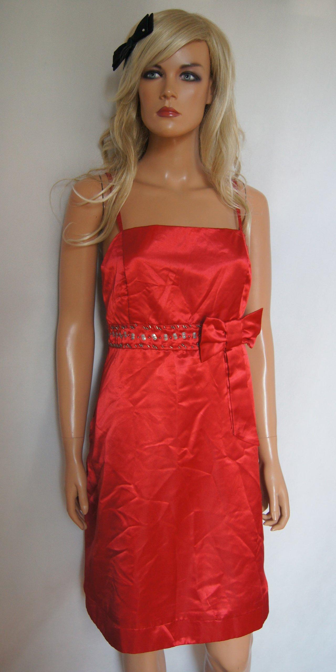 8f4a0f380e Czerwona sukienka zdobiona H r 42 NOWA - 7132274478 - oficjalne ...