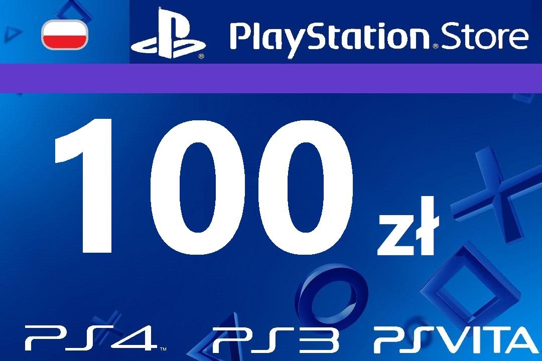 PlayStation 100 zł PSN Network Store Kod PS4 PS3