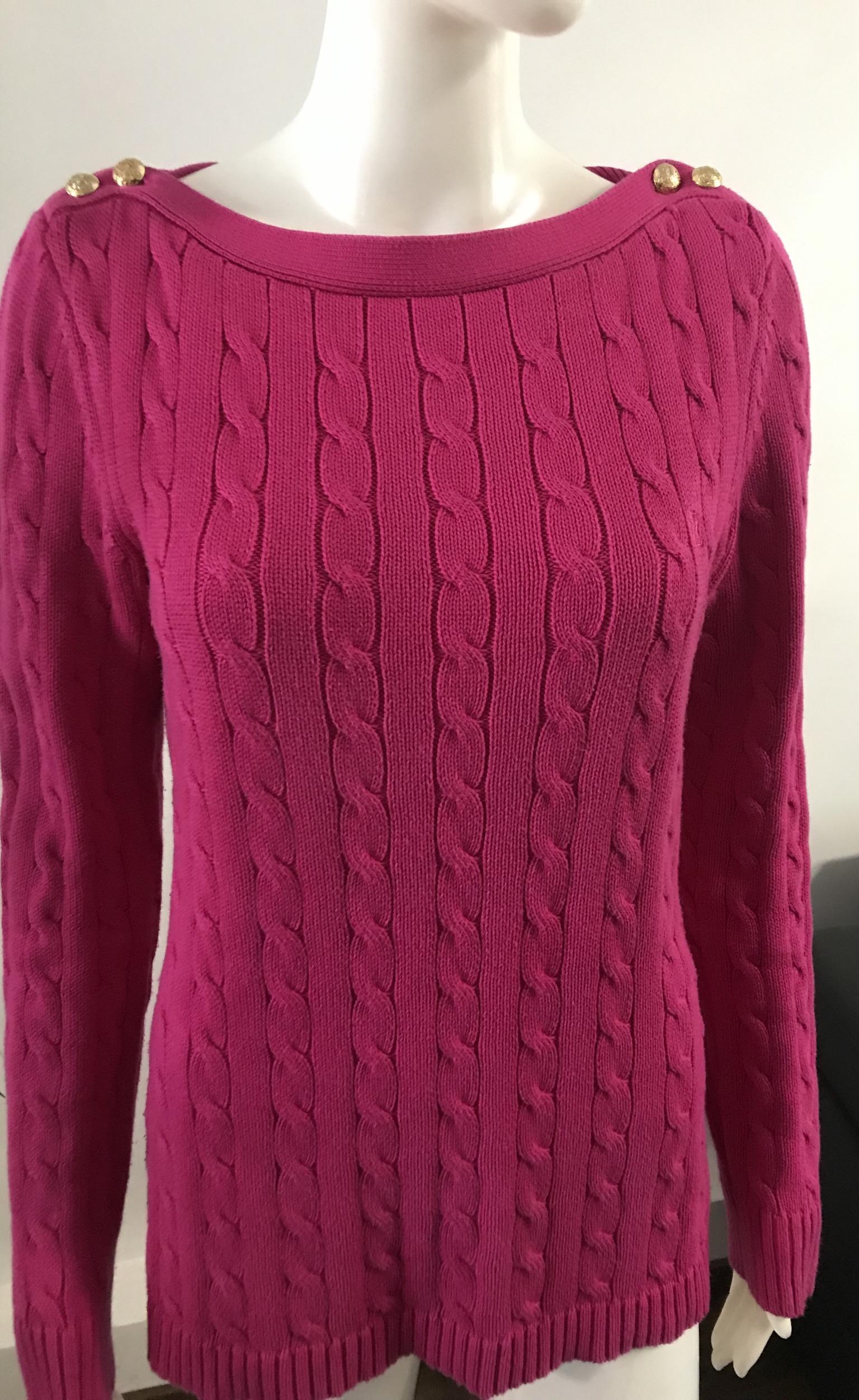 Sweter damski Ralph Lauren S-M różowy oryginał