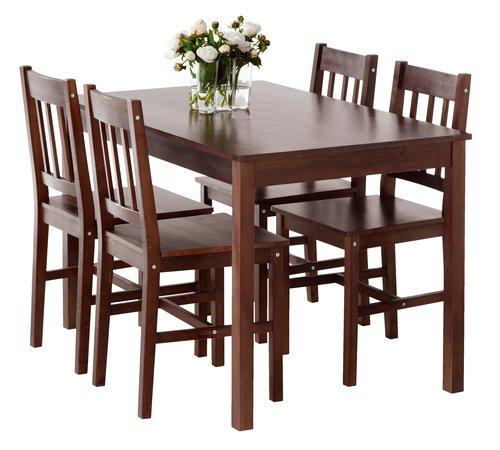 Styl Ikea Zestaw Stół 4 Krzesła Drewniany Tanio 7133624915