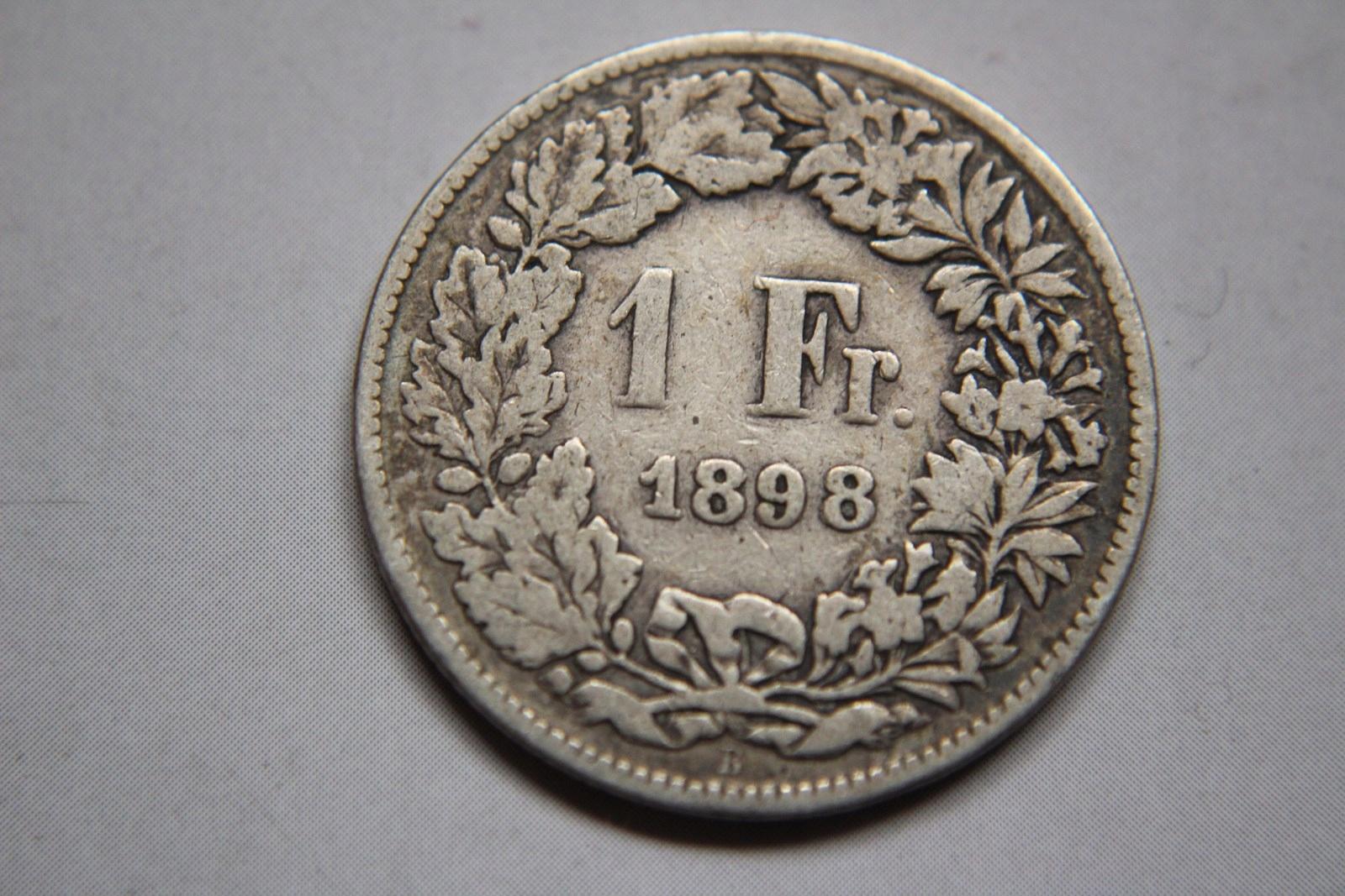 1 FRANK 1898 R. SZWAJCARIA SREBRO - CC865