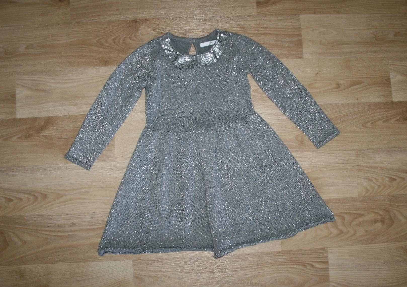 M&S śliczna sukienka sweterkowa 104-110