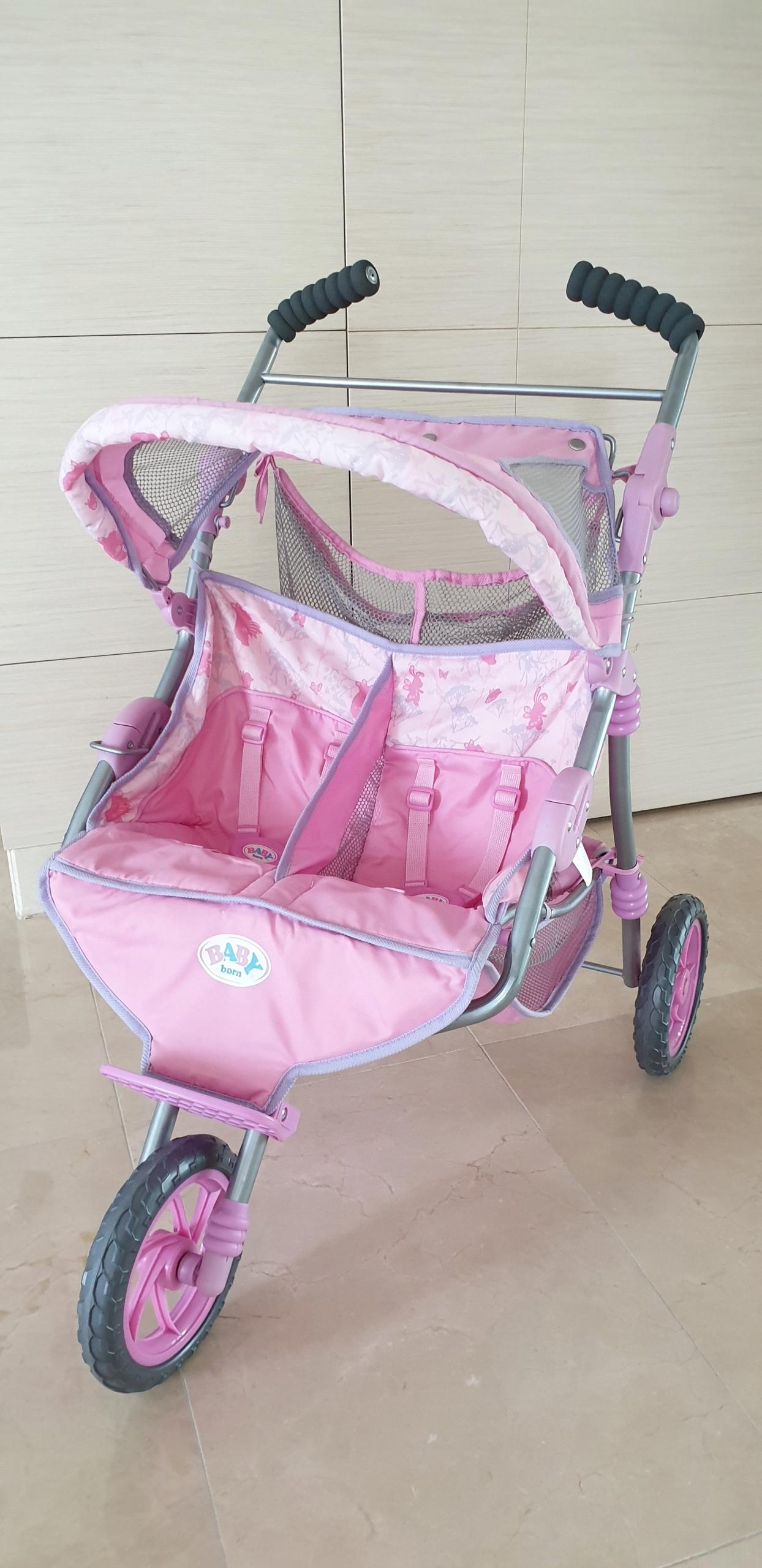 Wózek dla lalek Baby Born bliźniaczy