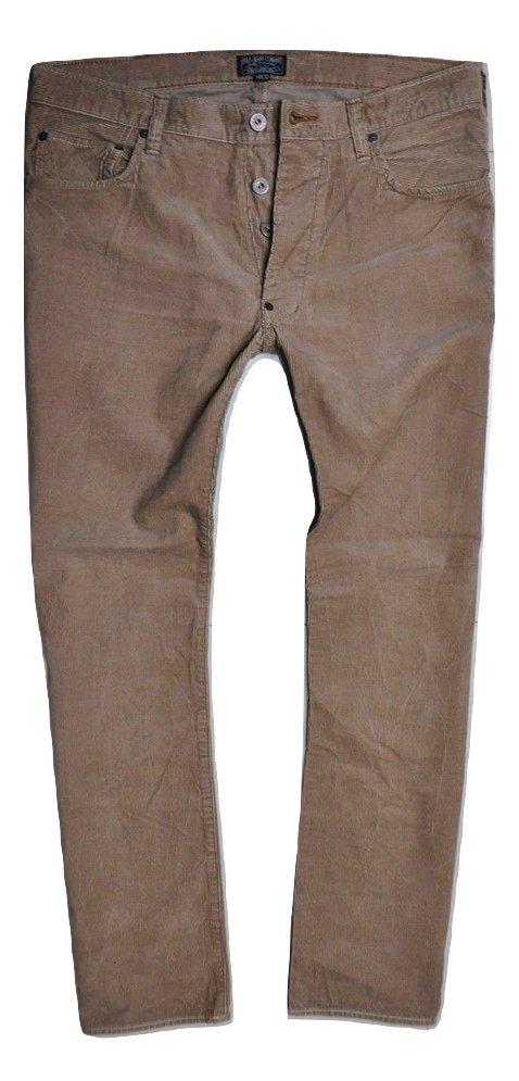 POLO RALPH LAUREN beżowe spodnie sztruksowe 34/32