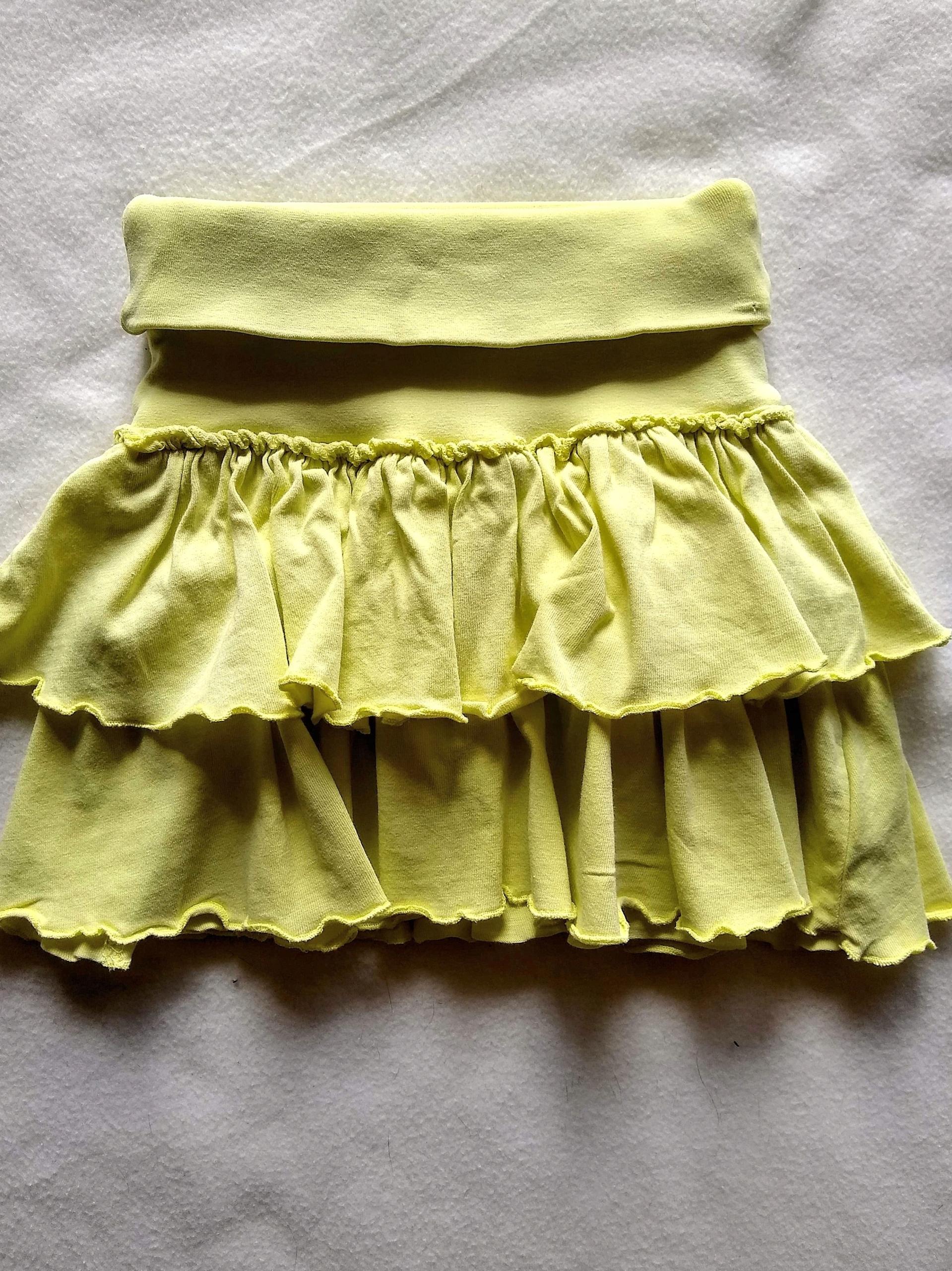 Spódniczka z falbankami limonkowa roz.92 H&M