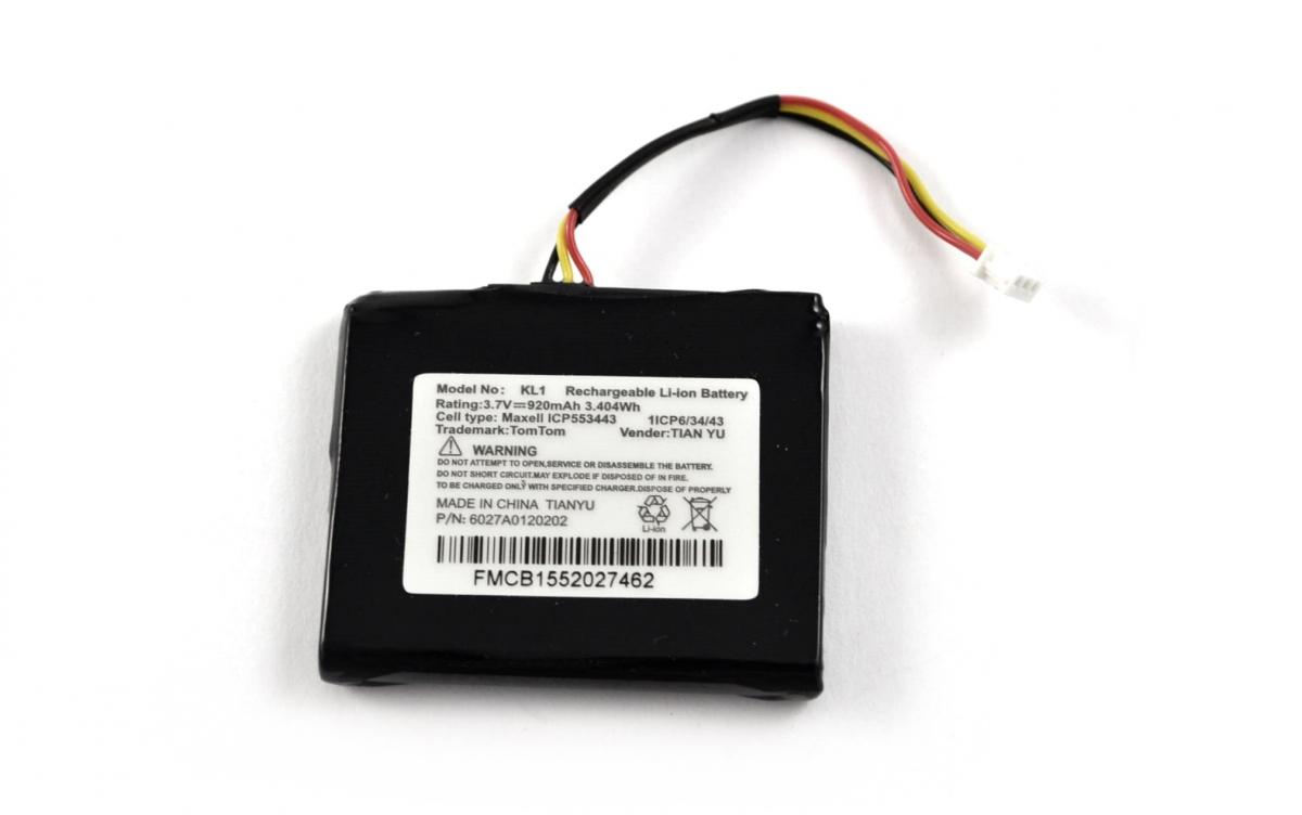 Bateria TomTom Start 25 (3,7V-920mAh)
