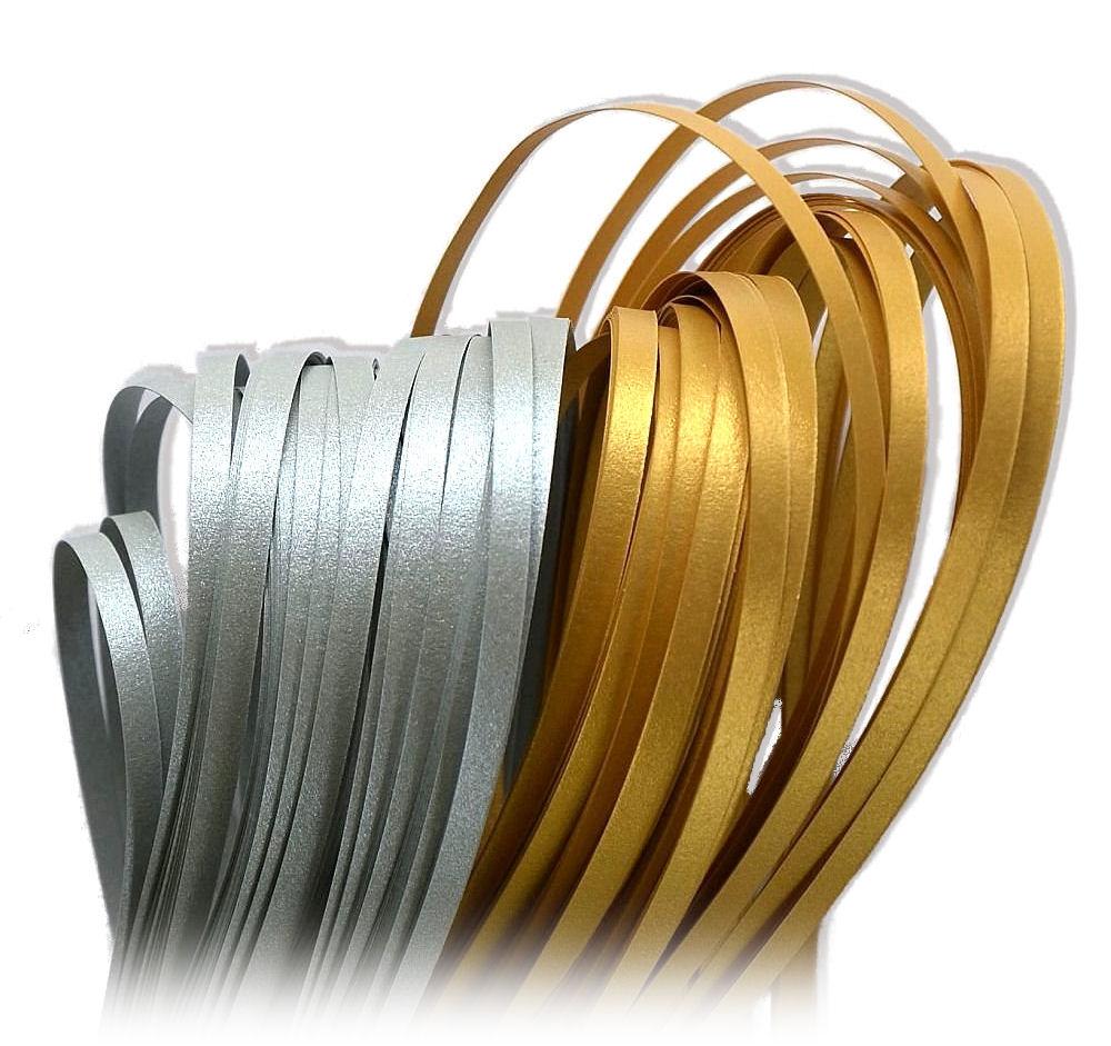 Quilling Paski metaliczne-perłowe sr-złote - 12mm