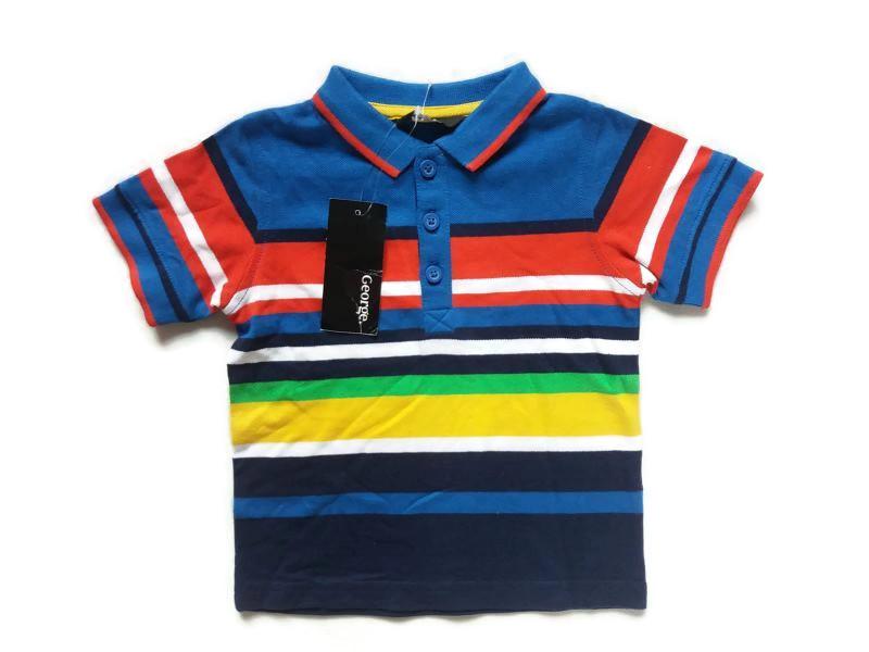 George -koszulka polo paski- r. 12-18 msc /80-86cm