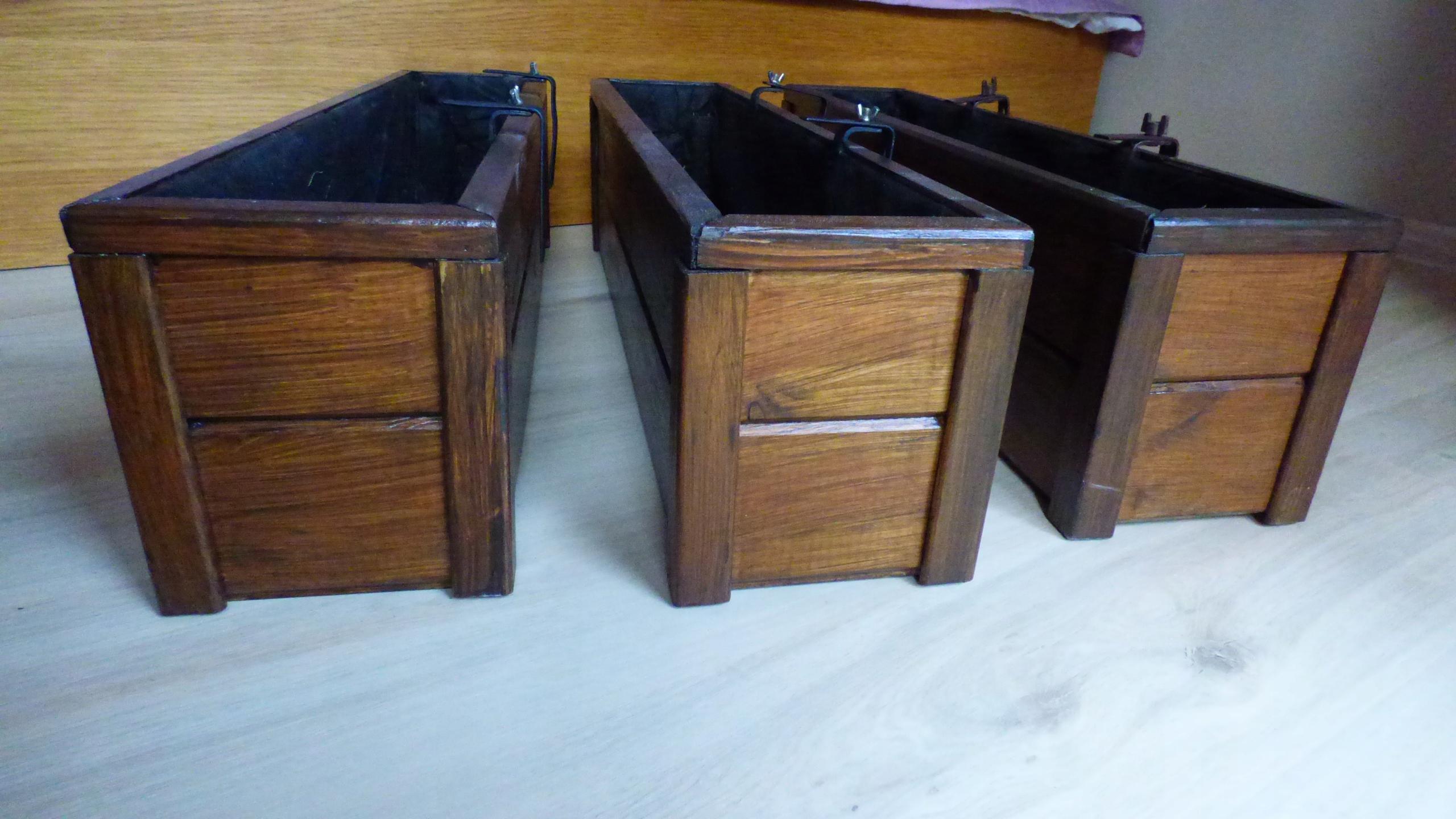 Doniczki Drewniane Balkonowe Z Wieszakami 7538008158
