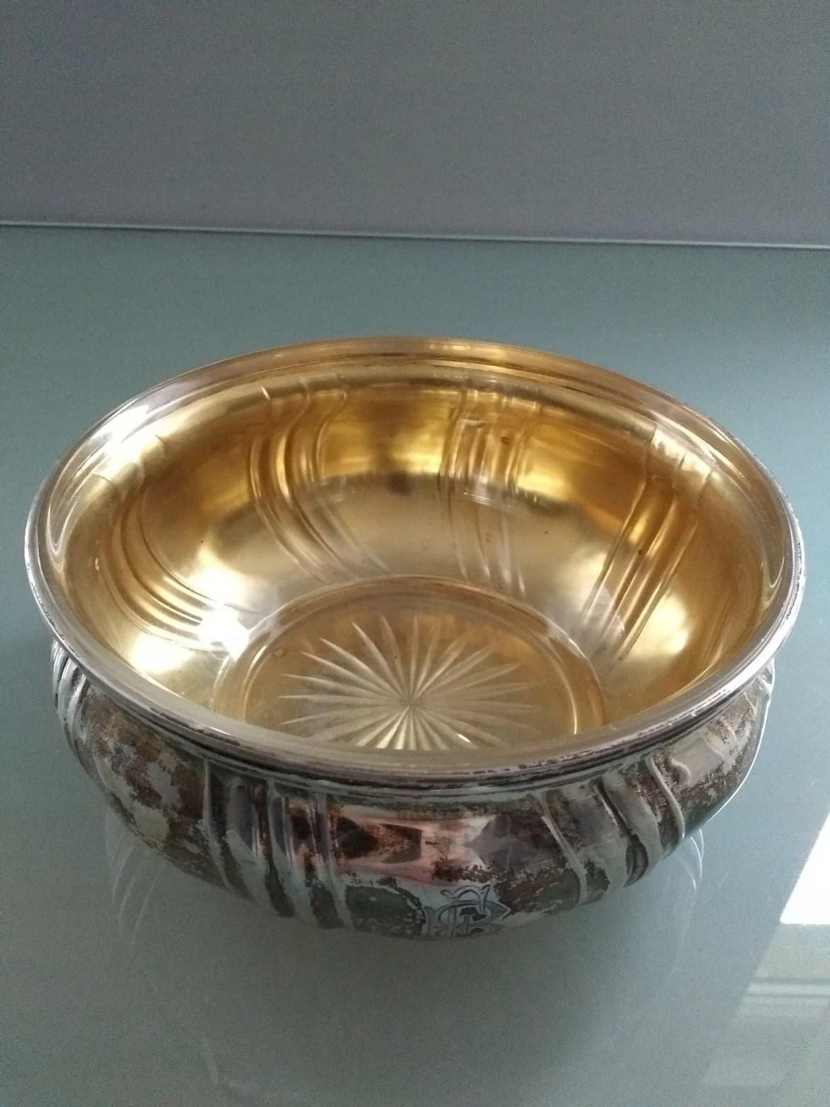 Srebrna owocarka z oryginalnym wkładem szklanym