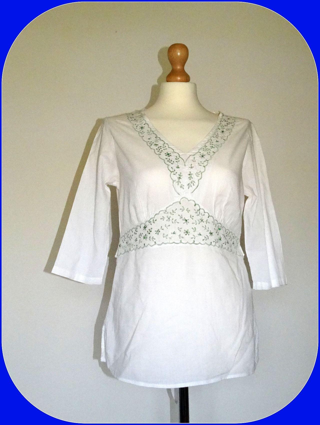 _MISS POSH_Rewelacyjna biała bluzka HAFT_R.36/38_!