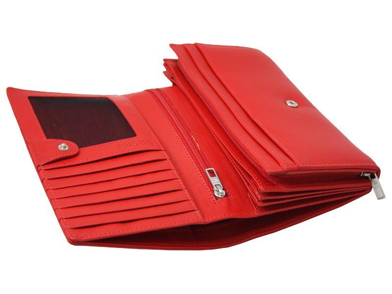 fcacf212c9c0e Skórzany czerwony portfel damski Samsonite RFID - 7078129241 ...