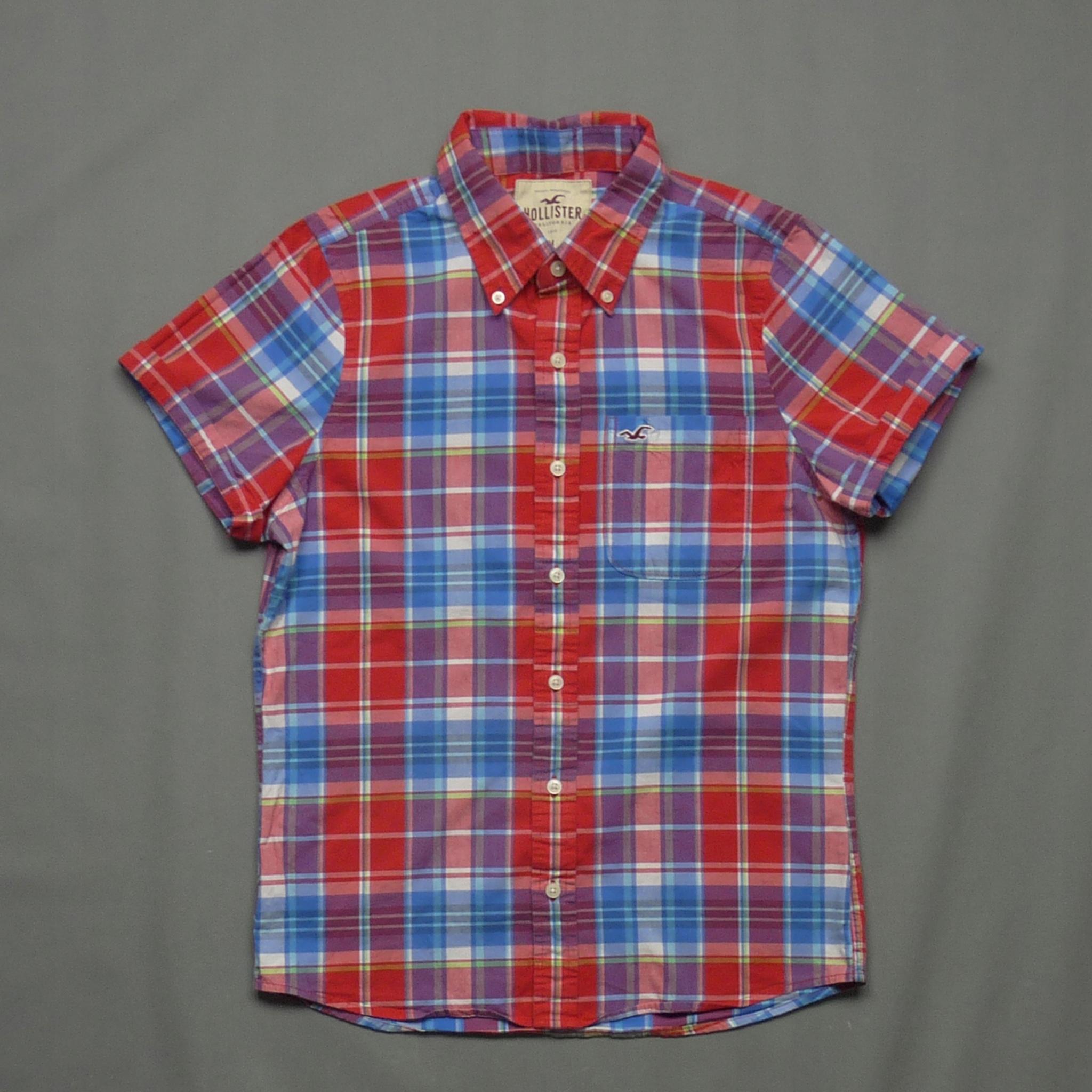 HOLLISTER bawełniana koszula premium w kratkę M