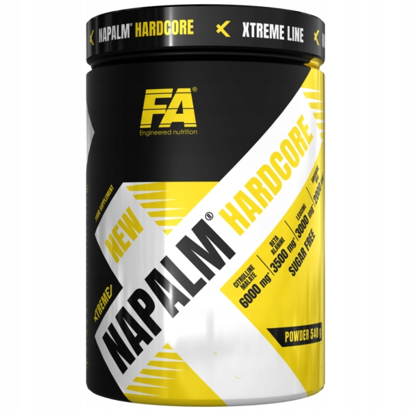 FA Nutrition Xtreme Napalm Hardcore 540g truskawka