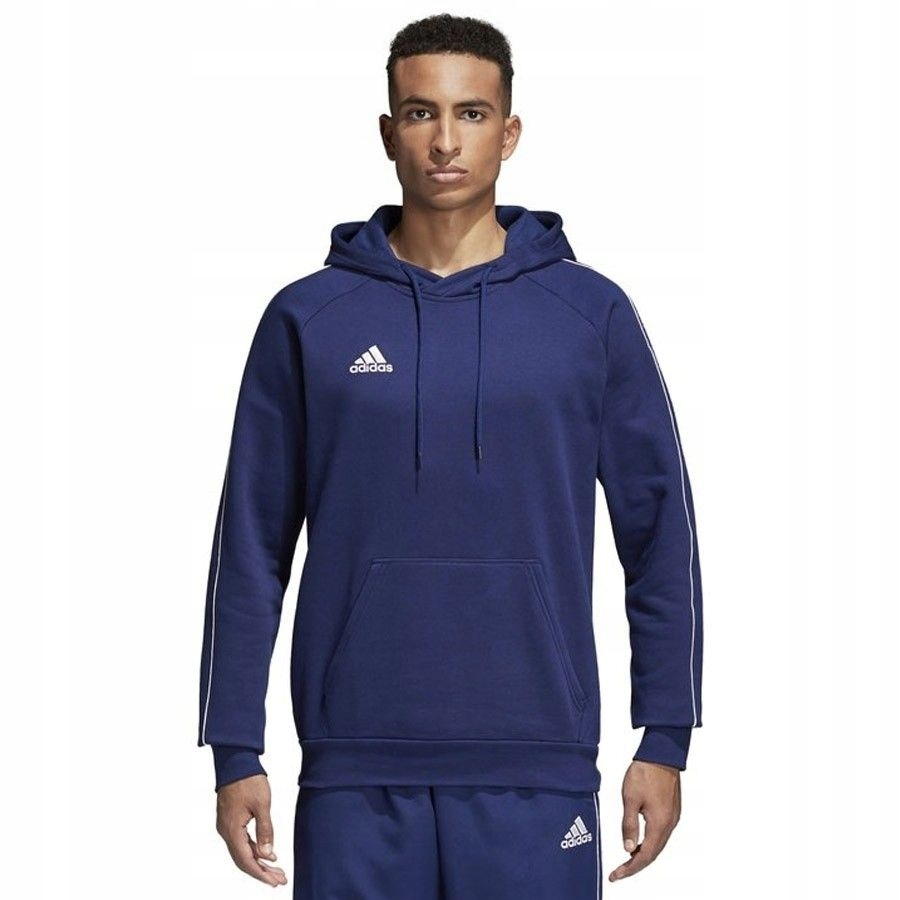 Bluza adidas Core18 Hoody CV3332 - GRANATOWY; M