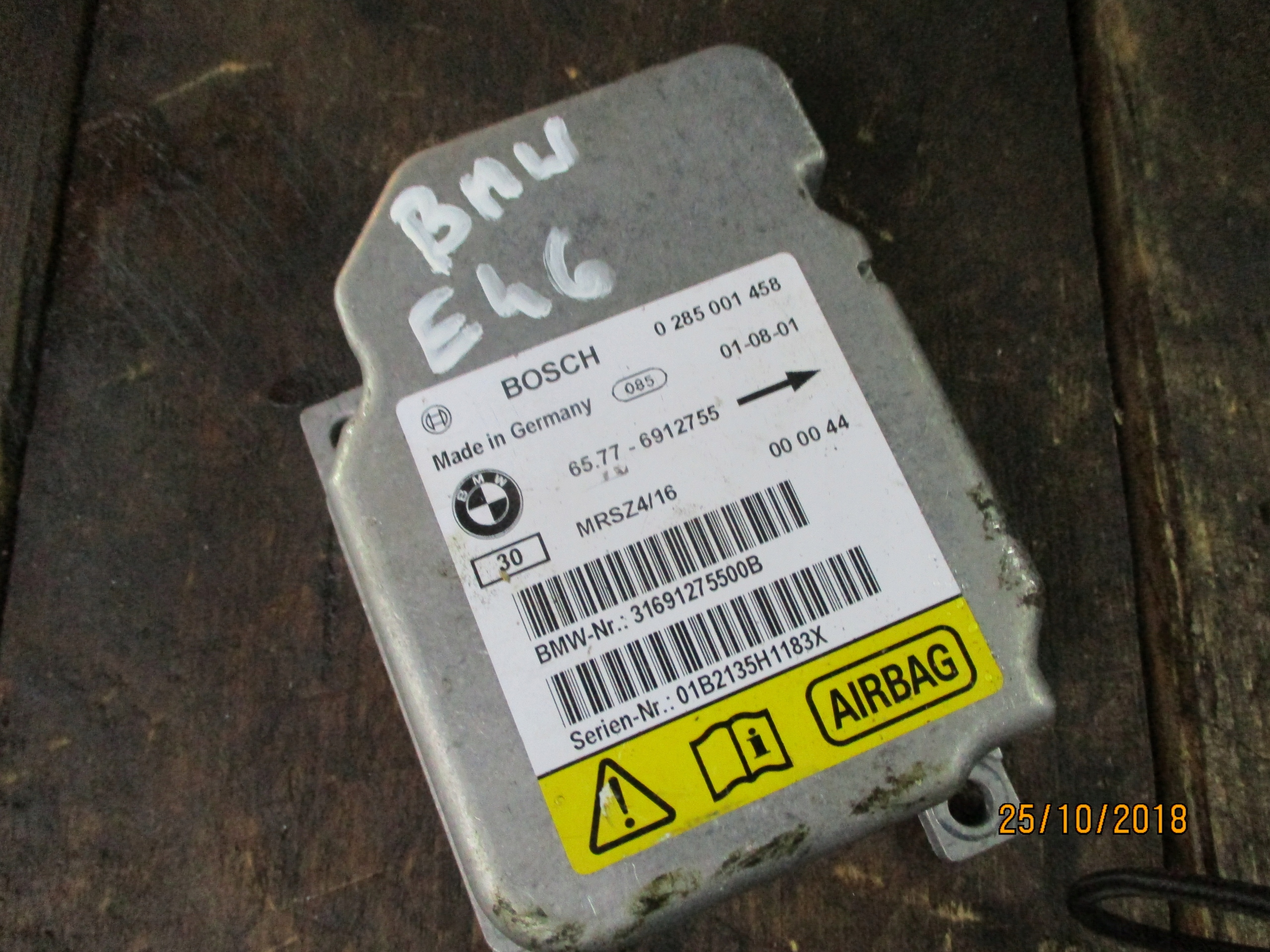BMW E46 SENSOR AIRBAG 0285001458
