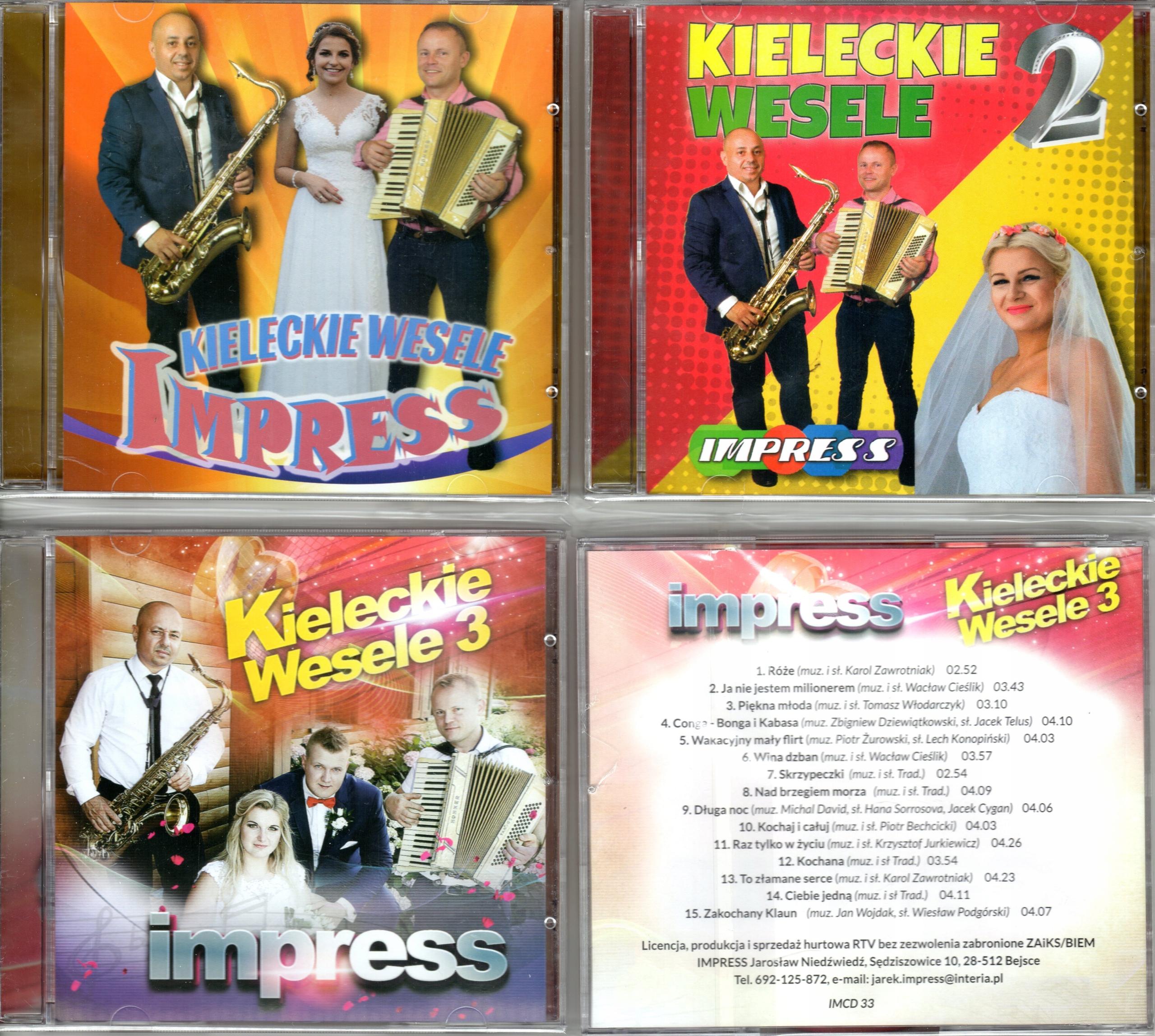 IMPRESS KIELECKIE WESELE 3 CD