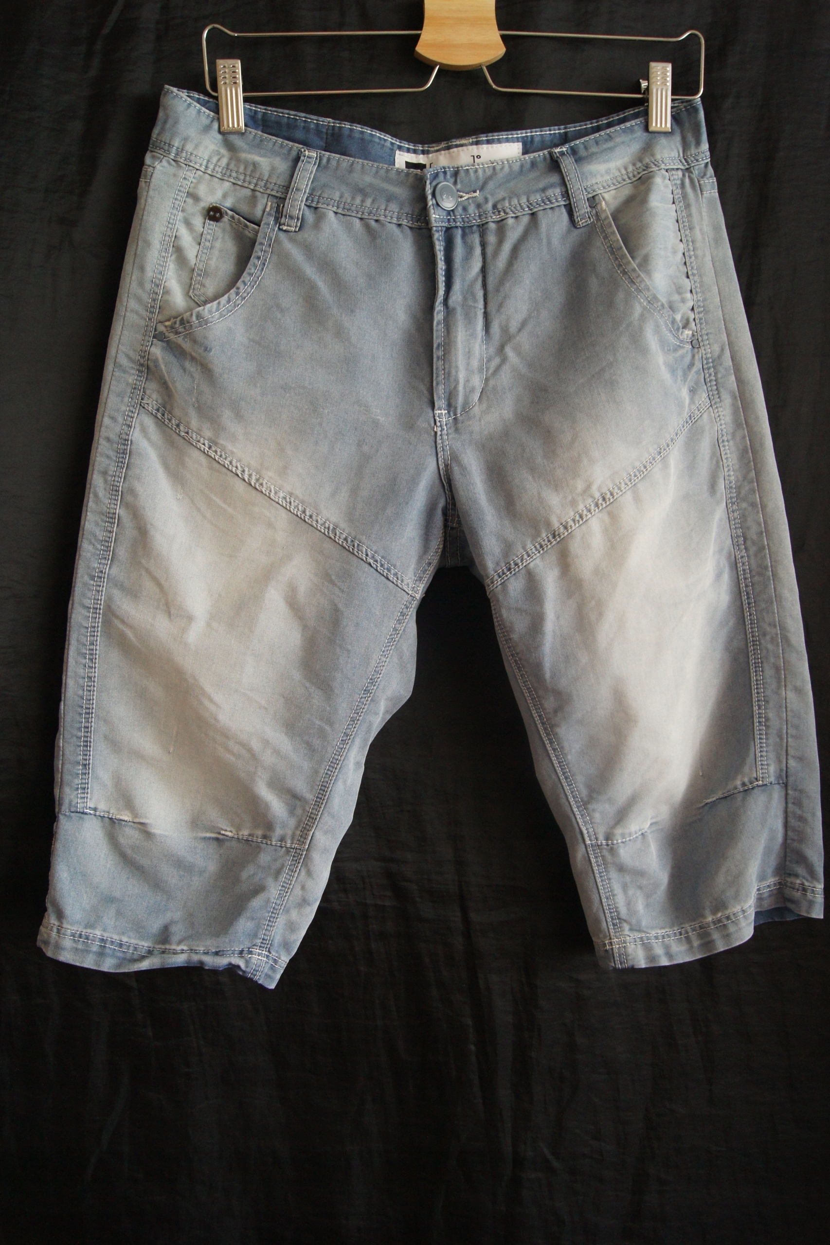 PULL&BEAR T-shirt męski+CROPP-spodenki jeans