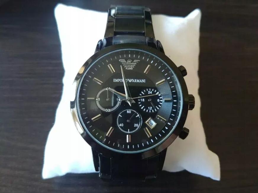Zegarek męski Emporio Armani, czarny, bransoleta