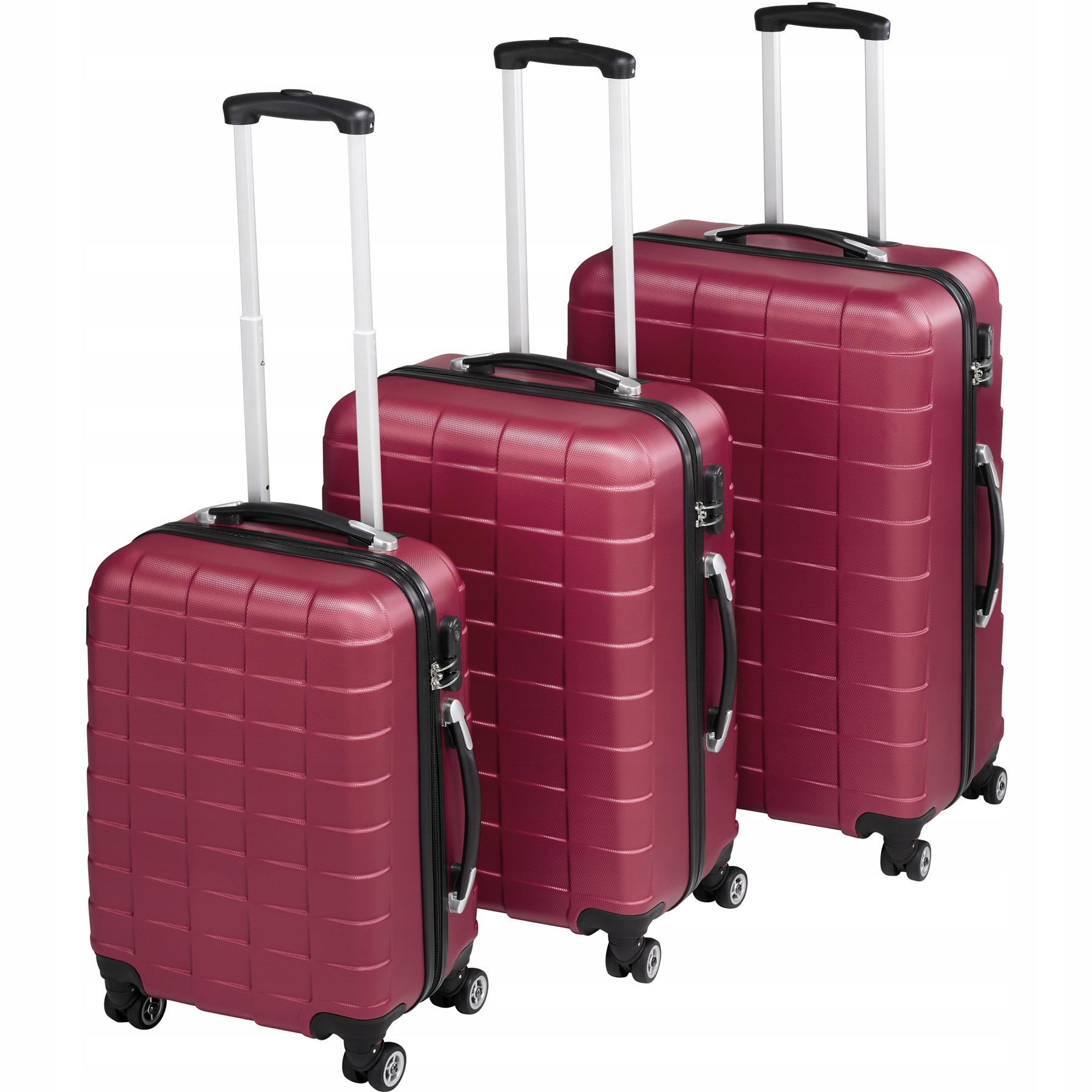 Zestaw 3 walizek walizki na kółkach 402670