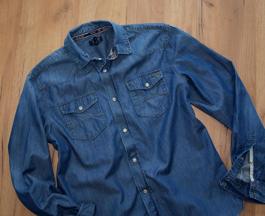 ARMANI jeansowa koszula EXTRA M