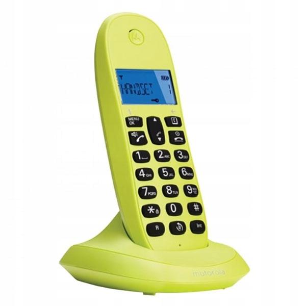 TELEFON BEZPRZEWODOWY MOTOROLA C1001_LIMONKA