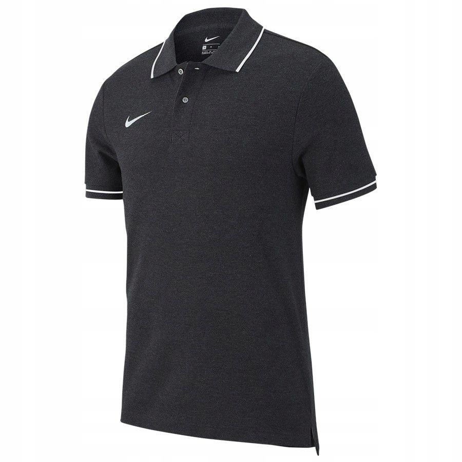 Koszulka Polo Nike TM Club 19 AJ1502 071 SREBRNY S
