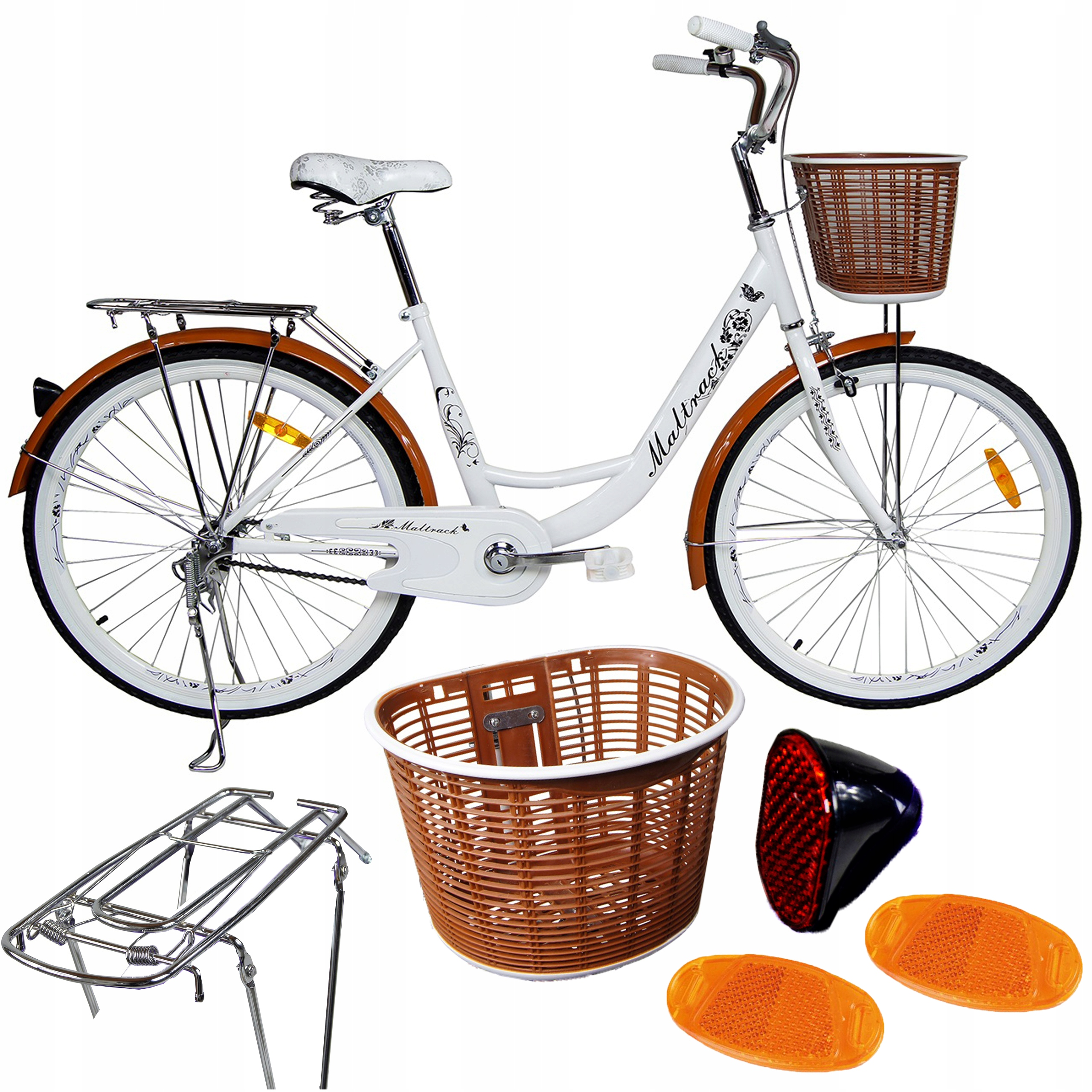 ROWER Miejski 26'' Citybike CAFFE Koszyk Bagażnik