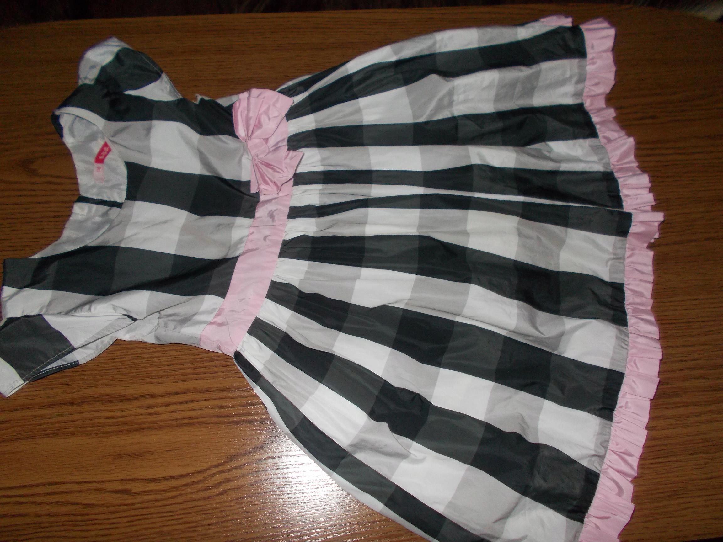 5-10-15 piekna sukienka w krate na lato 116cm