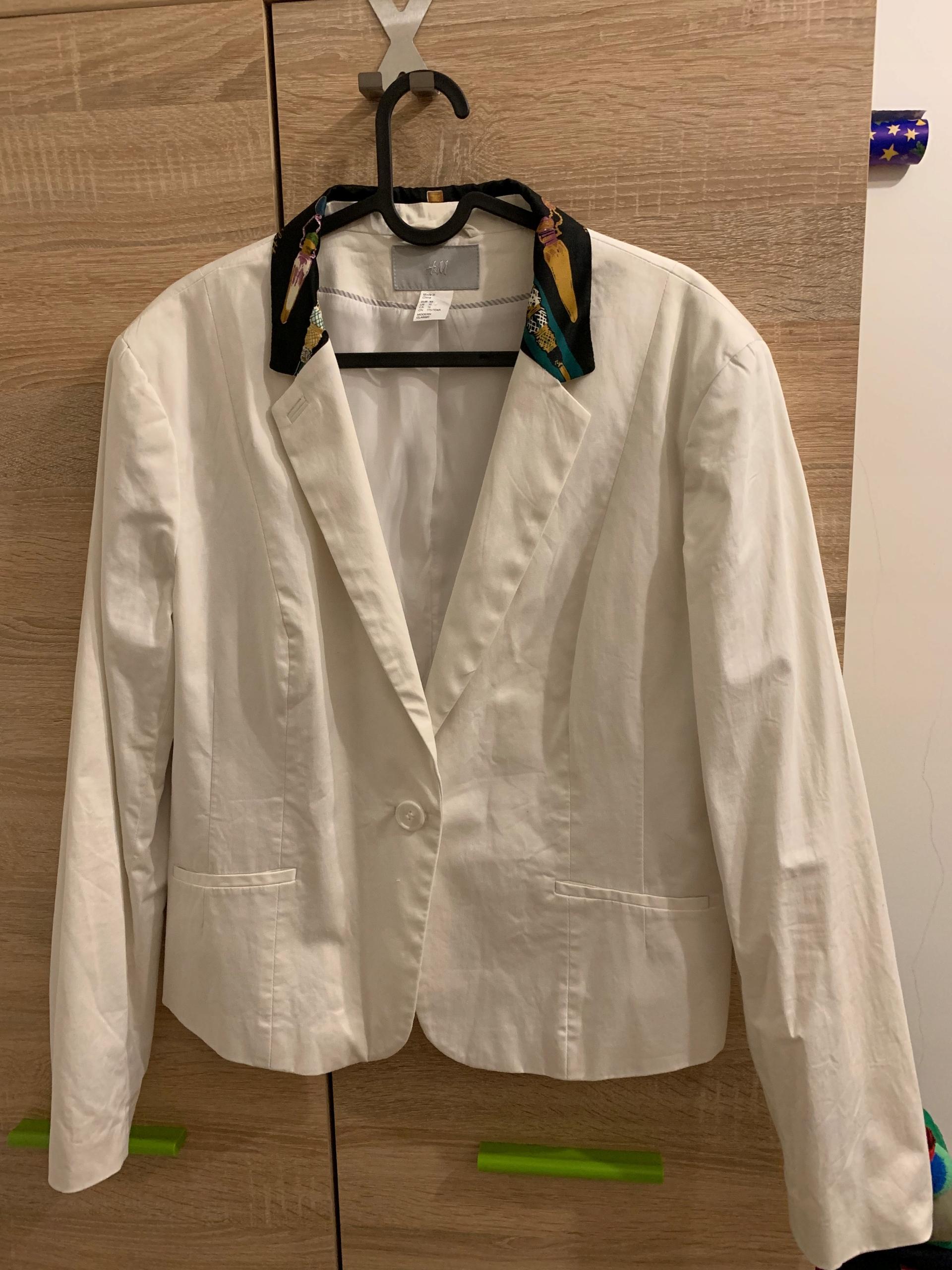 H&M żakiet damski biały roz. 46