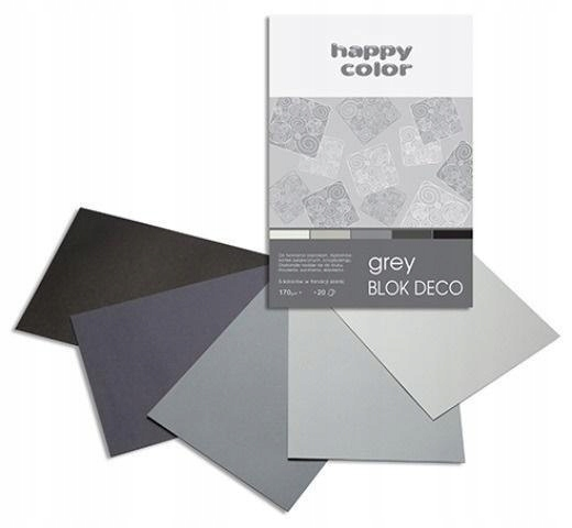 Blok A5/20K Deco Grey 170g HAPPY COLOR