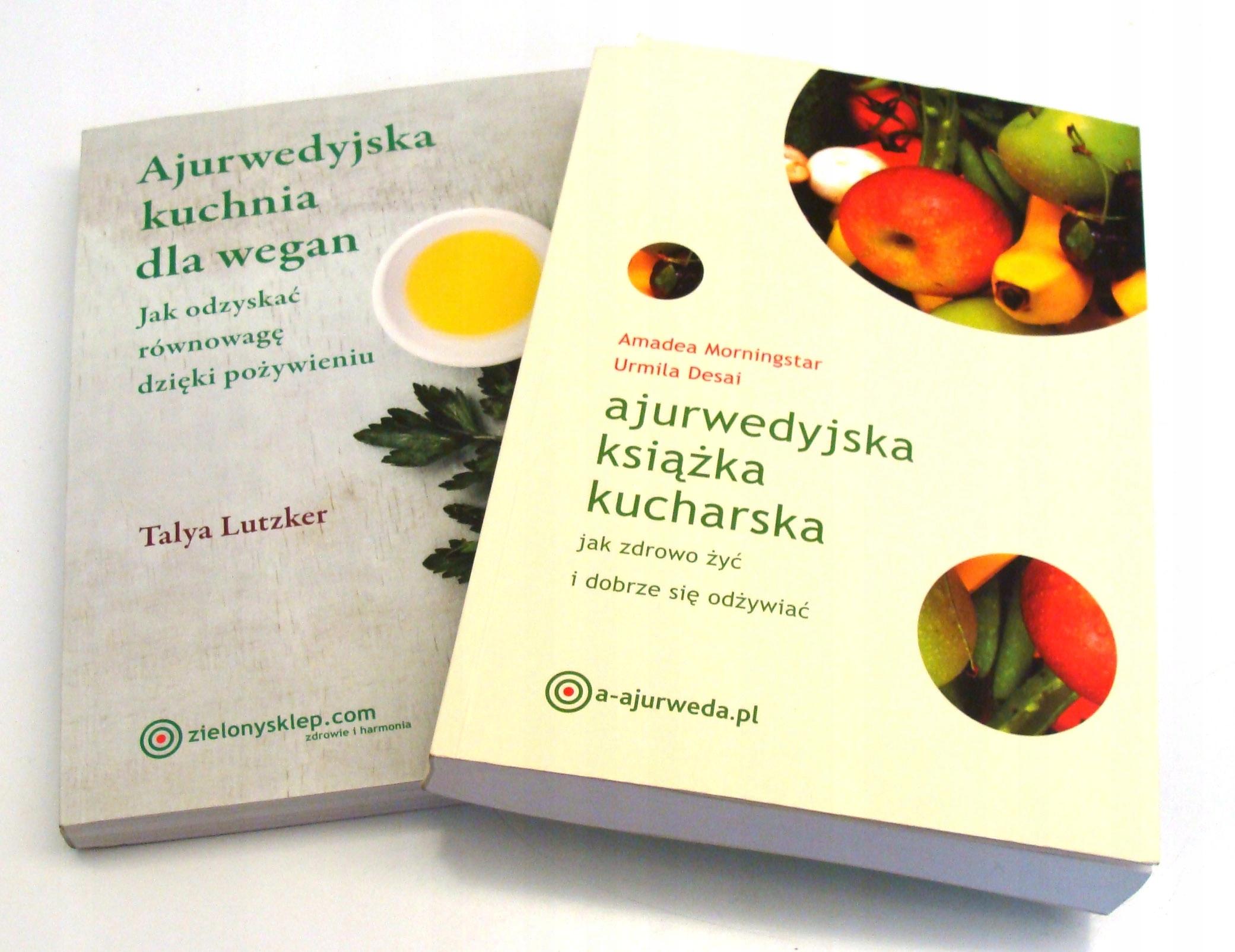 Ajurwedyjska Książka Kucharska Kuchnia Wegańska X2