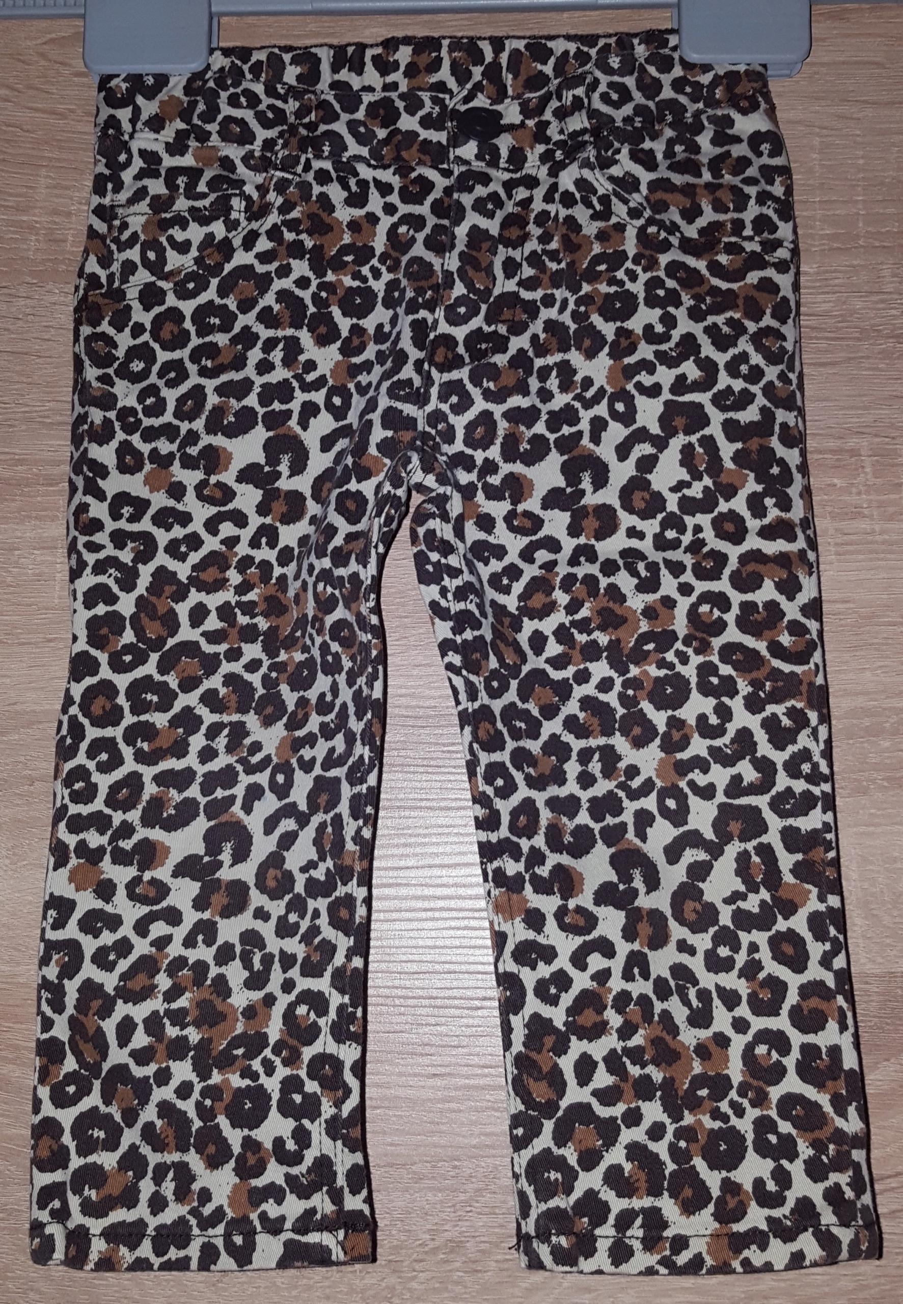 Spodnie dziewczęce H&M na 9-12 mies 80 cm.