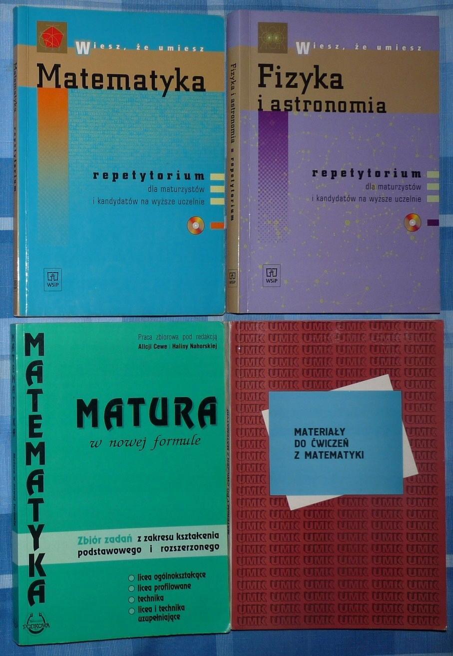 Matematyka Fizyka repetytorium dla maturzystów