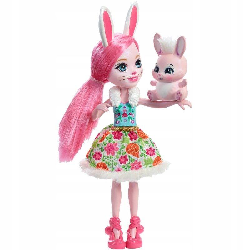 Mattel Enchantimals Lalka Bree Bunny + zwierzątko