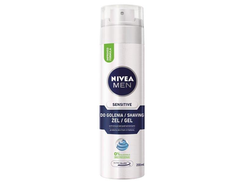 Nivea For Men Sensitive żel do golenia 200ml