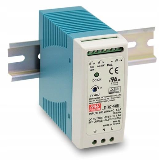 Zasilacz buforowy Mean Well DRC-60B alarm UPS