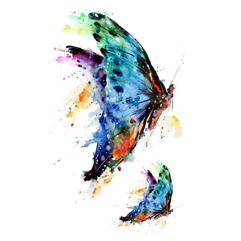 Tatuaż Zmywalny Pastelowy Motyl Motyle 7177791326