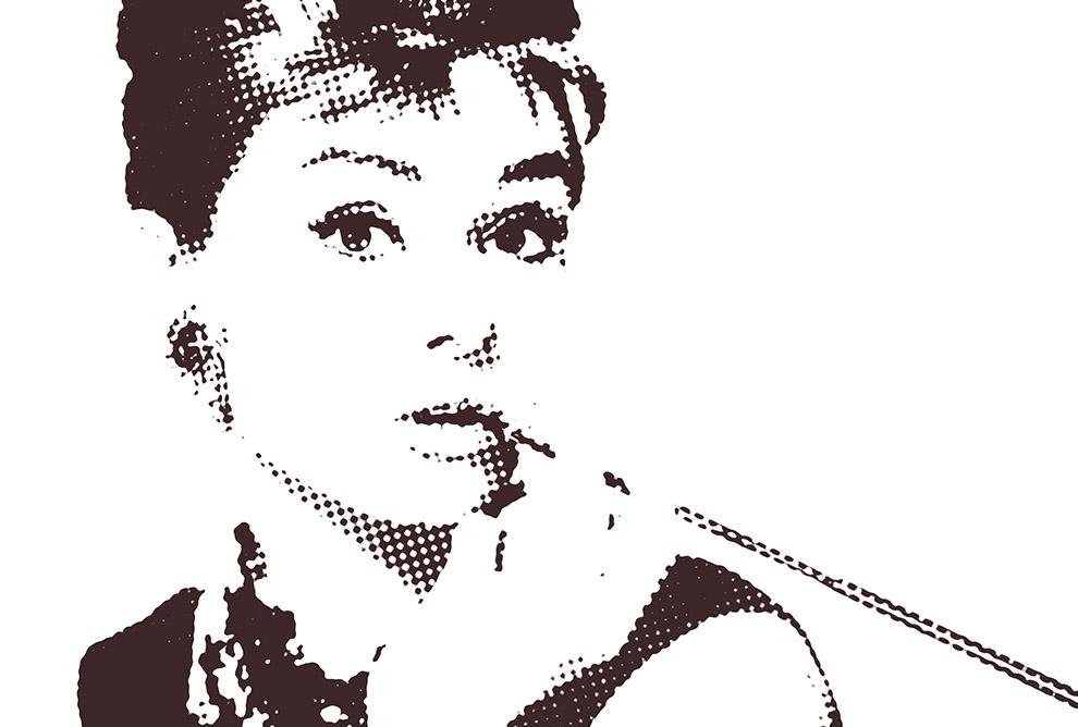 Audrey Hepburn Z Cygaretką Plakaty 70x50 7264420989