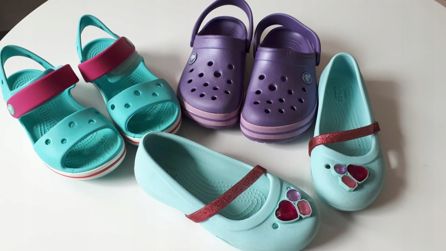 Buty Sandały Baleriny Crocs 29 dla dziewczynki