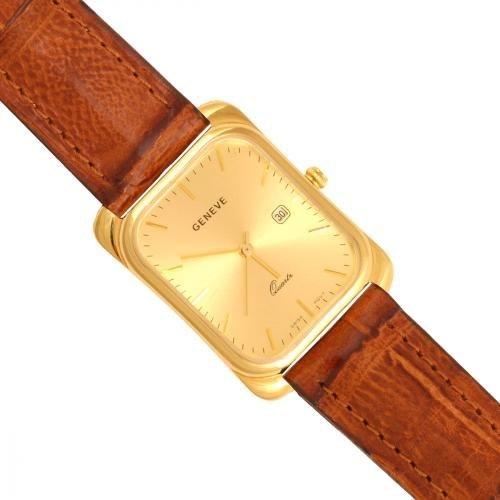 Złoty zegarek męski Na pasku