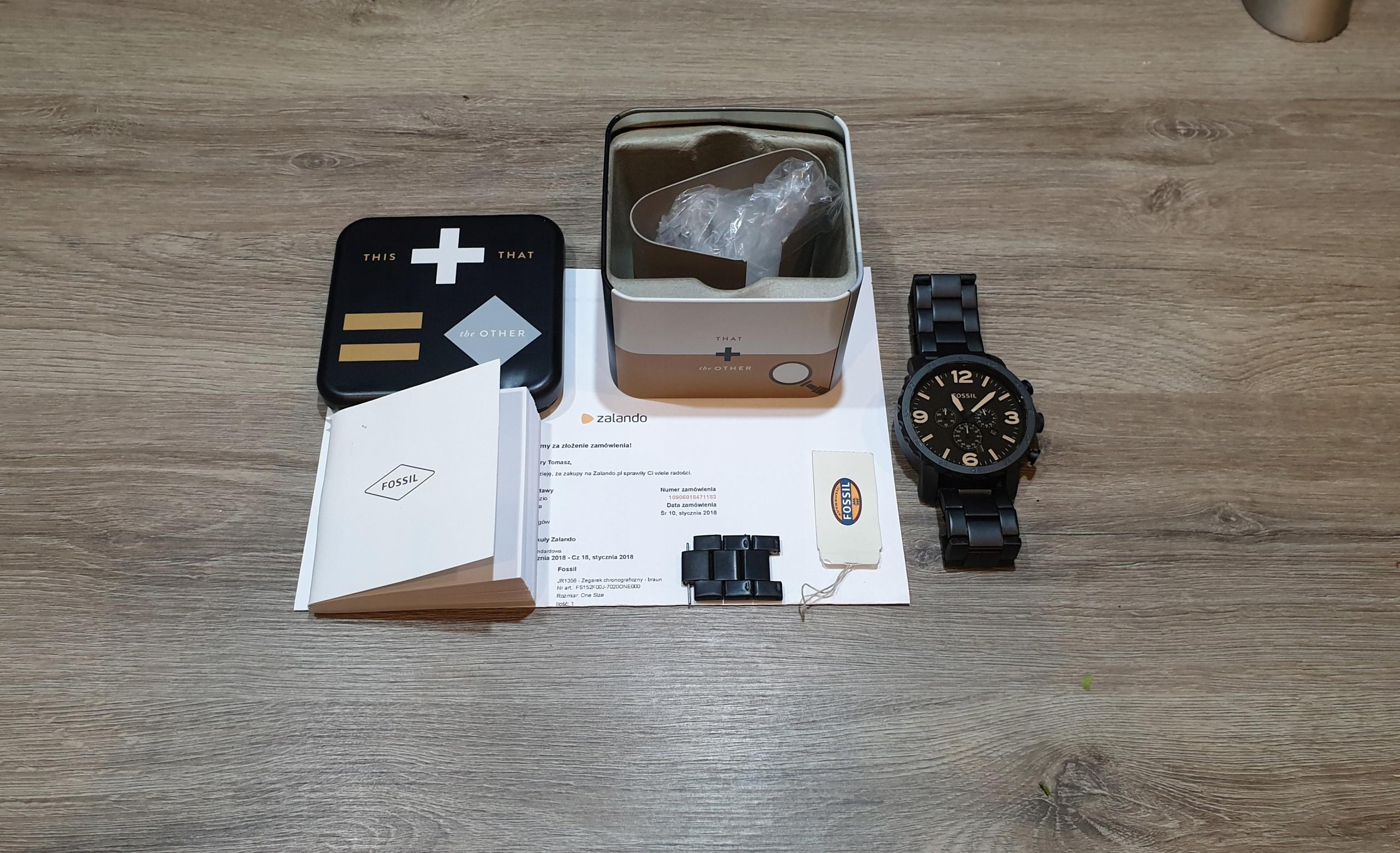 Zegarek Fossil JR1356 Piękny Duży Jak NOWY Komplet