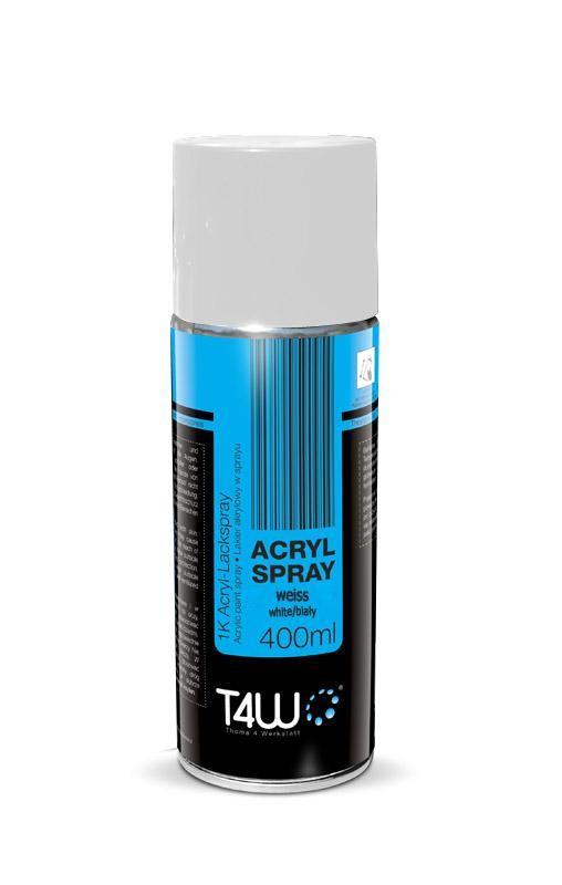 T4W Lakier akrylowy akryl spray biały połysk 400ml