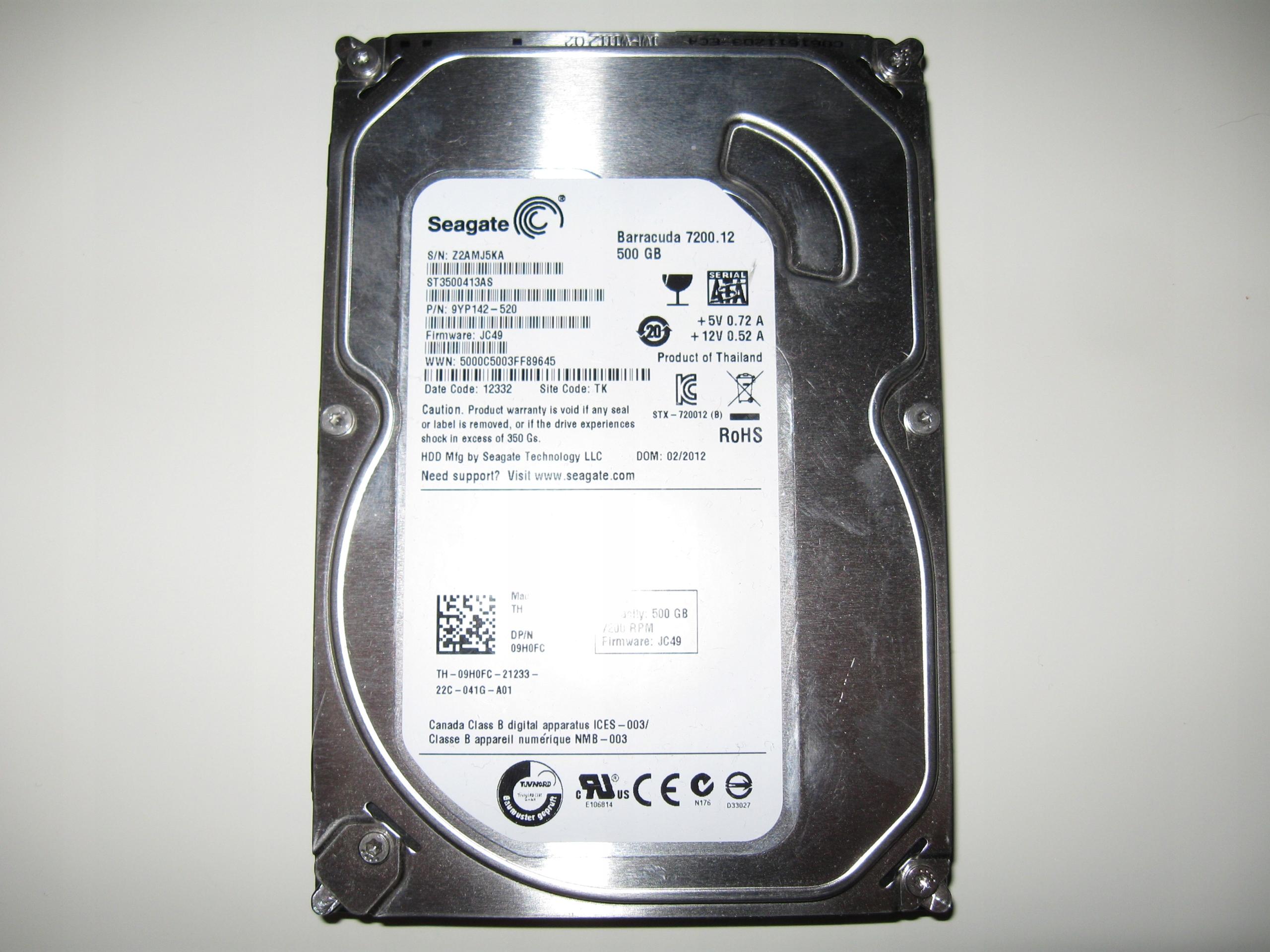 """Dysk Seagate 500GB SATA III 16MB 7200rpm 3,5"""""""