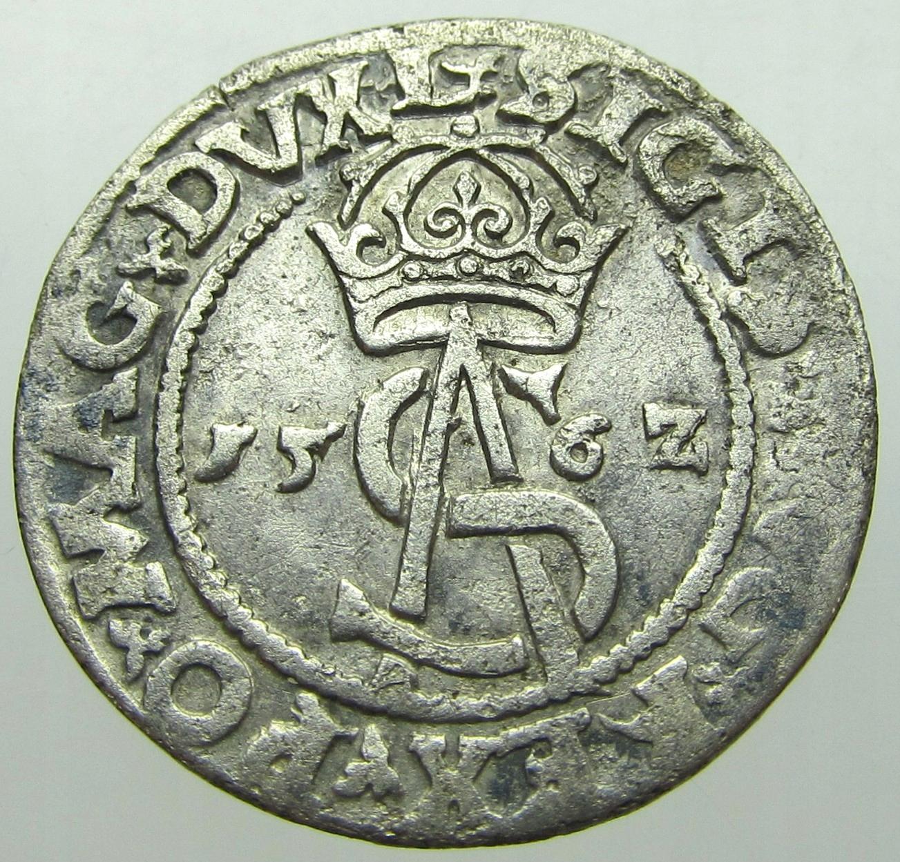 Zygmunt II August Trojak 1562 r. Wilno